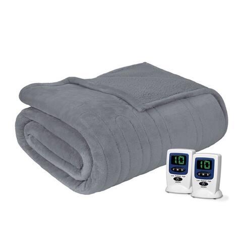 Beautyrest Solid Microlight to Berber Heated Blanket