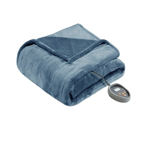 Beautyrest Solid Microlight to Berber Heated Blanket