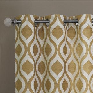 Madison Park Bergamo Ogee Chenille Curtain Panel