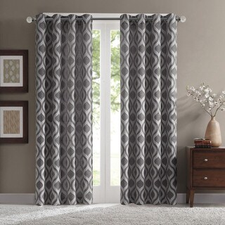 Madison Park Bergamo Ogee Chenille Curtain Panel
