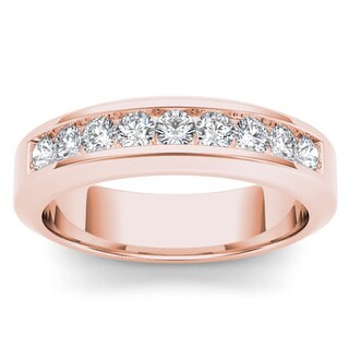 De Couer 14k Rose Gold 1ct TDW Diamond Women's Band (More options available)