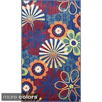 Tinsley Retro Floral Multi Runner Rug (2'2 x 5'0) - 2'2 x 5'