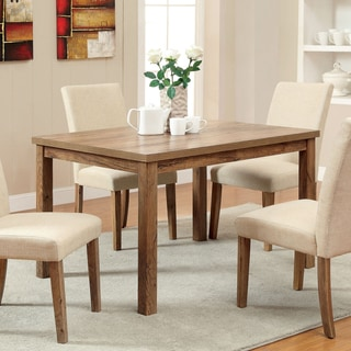 Furniture of America Seline Weathered Elm 48-Inch Dining Table