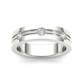 De Couer 14k White Gold 1/2ct TDW Diamond Band