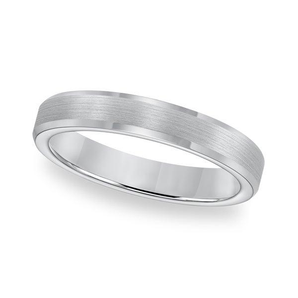 Cambridge Tungsten Carbide Beveled Edge Comfort Fit Ring