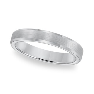 Cambridge Tungsten Carbide Beveled Edge Comfort Fit Ring