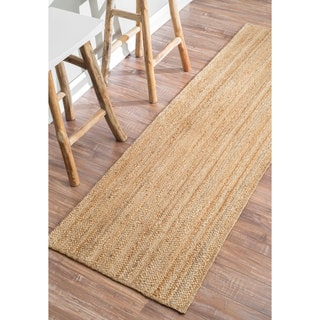 nuLOOM Alexa Eco Natural Fiber Braided Reversible Jute Runner Rug (2'6 x 8')
