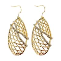 De Buman 18k Gold Plated Crystal Shade Dangle Earrings