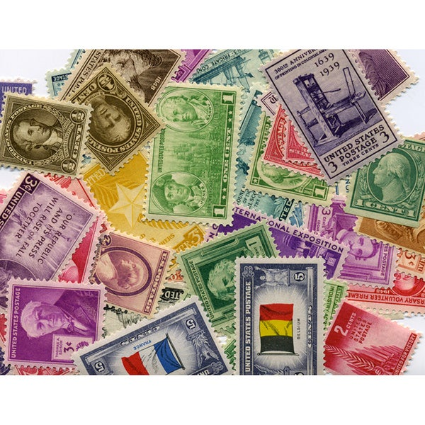 American Coin Treasures 1910s, 1920s, 1930s, 1940s US Postage Stamps (Set of 40)