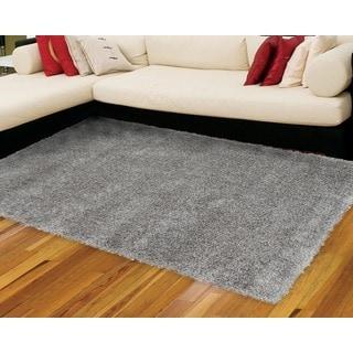 Nourison Escape Grey Shag Area Rug (3'11 x 5'11)