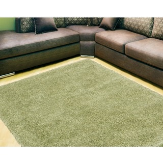 Nourison Escape Green Shag Area Rug (7'10 x 9'10)