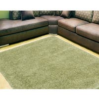 Nourison Escape Green Shag Area Rug (7'10 x 9'10) - 7'10 x 9'10