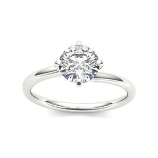 De Couer 14k White Gold 1ct TDW Diamond Solitaire Ring