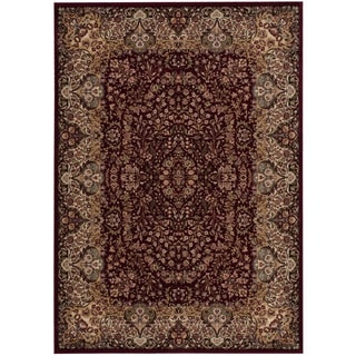 kathy ireland Antiquities Stately Empire Burgundy Area Rug by Nourison (3'9 x 5'9)