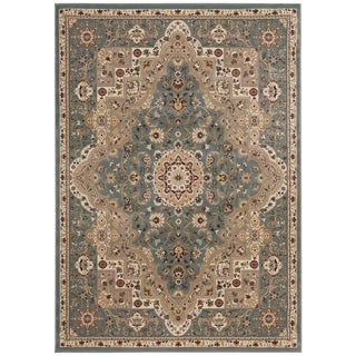kathy ireland Antiquities Imperial Garden Slate Blue Area Rug by Nourison (3'9 x 5'9)
