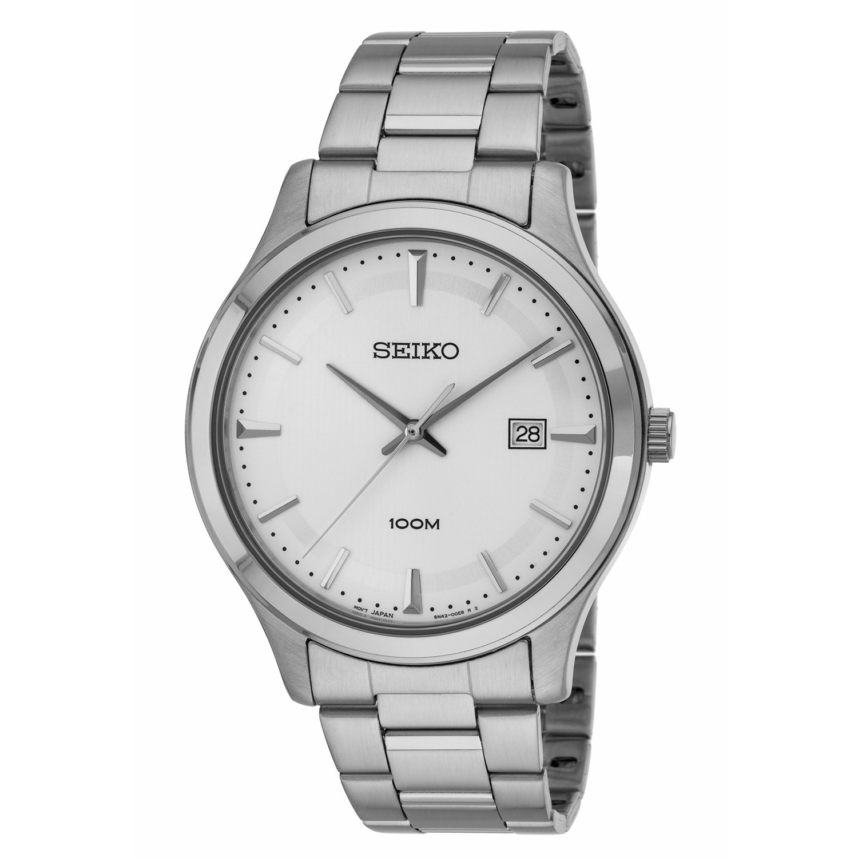 Seiko SUR047 Men's 100M Silver Tone Bracelet Watch (Seiko...