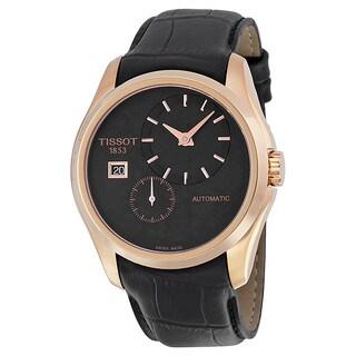 Tissot Men's T0354283605100 Couturier Black Leather Watch
