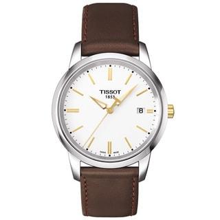 Tissot Men's T0334102601101 T-Classic Dream Brown Leather Watch