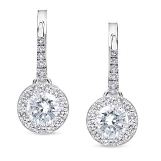 bluefly v p width platinum com diamond studs earrings
