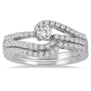 Marquee Jewels 10k White Gold 3/4ct TDW Diamond Bridal Set (I-J, I1-I2)