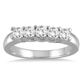 Marquee Jewels 14k White Gold 3/4ct TDW Prong-set Diamond Band (I-J, I2-I3)