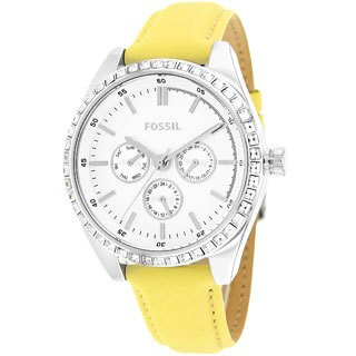 Fossil Women's Chronograph Yellow Leather Watch