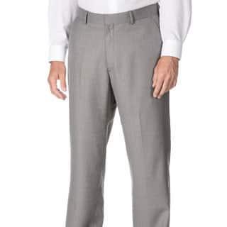 Marco Carelli Men's Big & Tall Grey Flat-front Dress Pants|https://ak1.ostkcdn.com/images/products/9478055/P16660050.jpg?impolicy=medium
