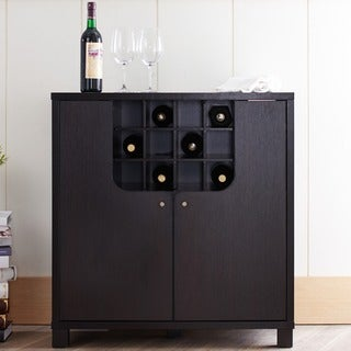 Furniture of America Bento Cappuccino Modern Wine Cabinet