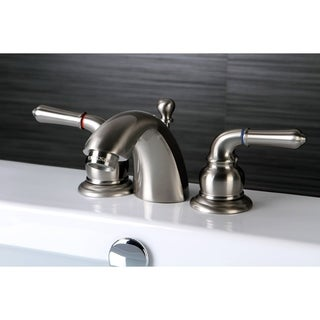 Satin Nickel Mini-Widespread Bathroom Faucet