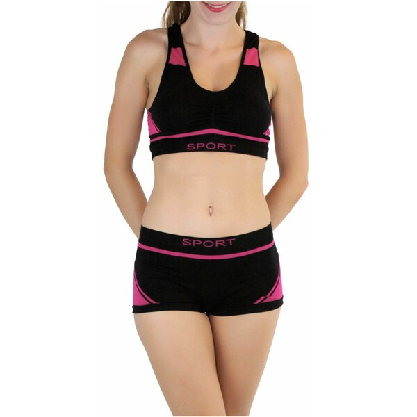 Tops S, Style A Girls 6 Pack Seamless Multi Pattern Racerback Bras and Boyshorts