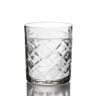 Fitz and Floyd Tufted Crystal Old Fashioned Glasses (Set of 4)