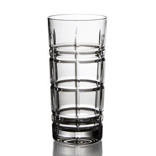 Fitz Floyd Plaid Clear Hi-ball Glass (Set of 4)