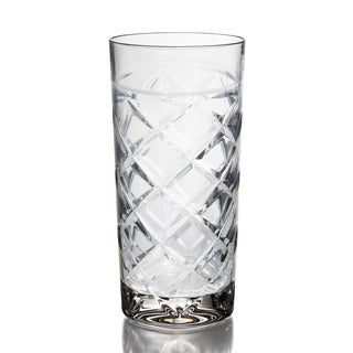 Fitz and Floyd Clear Tufted Hi-ball Glasses (Set of 4)