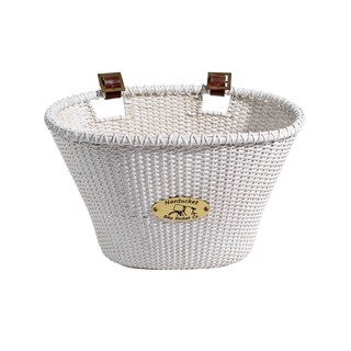 Nantucket Bicycle Basket Co. White Oval Bicycle Basket