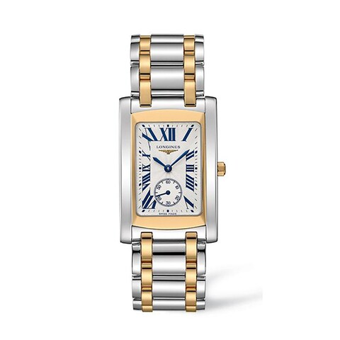 Longines Women's L5.655.5.70.7 Dolce Vita Stainless Steel 18k Yellow Gold Silver Dial Watch