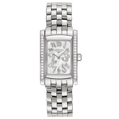 Longines Women's Dolce Vita Mid-size Stainless Steel and Diamond Watch