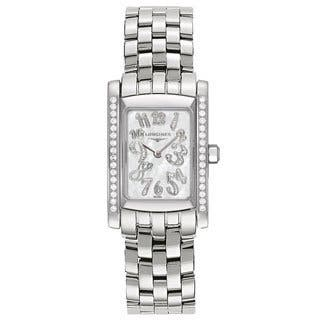 Longines Women's Dolce Vita Mid-size Stainless Steel and Diamond Watch|https://ak1.ostkcdn.com/images/products/9478214/P16660191.jpg?impolicy=medium