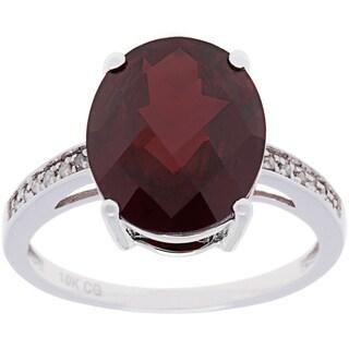 10k White Gold 1/10 ct TDW Diamond and Gemstone Ring (G-H, I1-I2)
