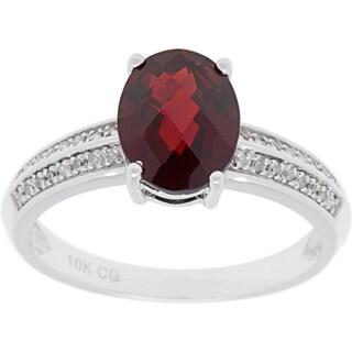 10k White Gold 1 8ct TDW Diamond And Gemstone Ring G H I1 I2