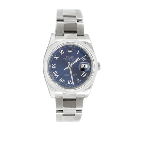Pre-owned Rolex Men's Datejust 116200 Stainless Steel Watch