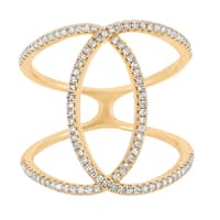14k Yellow Gold 2/5ct TDW Diamond Double Ring