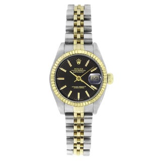 Pre-owned Rolex Women's 69173 Datejust Two-Tone Watch