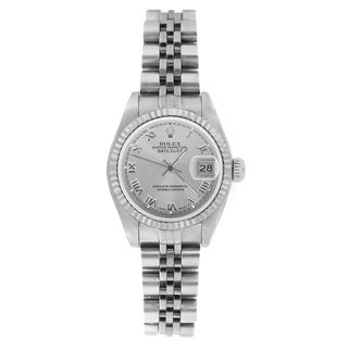 Pre-Owned Rolex Women's 69174 Datejust Jubilee Bracelet Silver Roman Watch