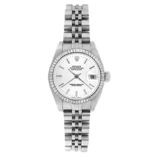Pre-owned Rolex Women's 69174 Datejust Jubilee Bracelet White Stick Watch