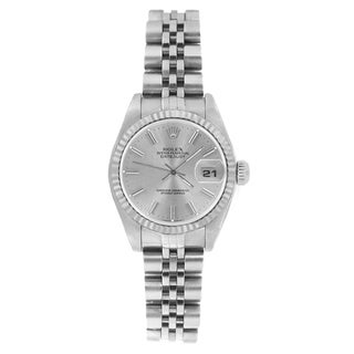 Pre-owned Rolex Women's 69174 Datejust Jubilee Bracelet Silver Stick Watch