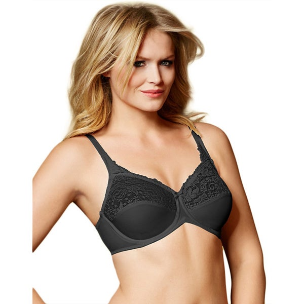 bff7118524ac7 Shop Lilyette Tailored Minimizer Bra with Lace Trim - Free Shipping ...