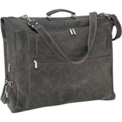 David King Leather 6204 Distressed Leather Deluxe 4-Suit Garment Bag Grey