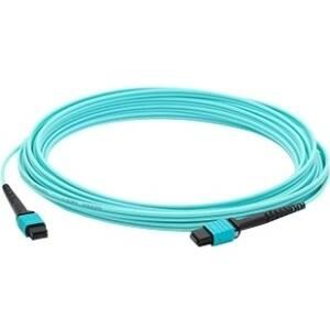 AddOn 1m MPO (Female) to MPO (Female) 12-strand Aqua OM4 Crossover Fiber OFNR (Riser-Rated) Patch Cable