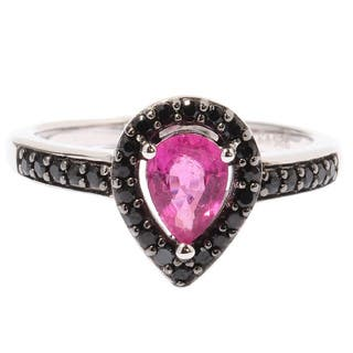 Sterling Silver Rubellite Black Spinel Drop Shaped Ring|https://ak1.ostkcdn.com/images/products/9479582/P16661410.jpg?impolicy=medium