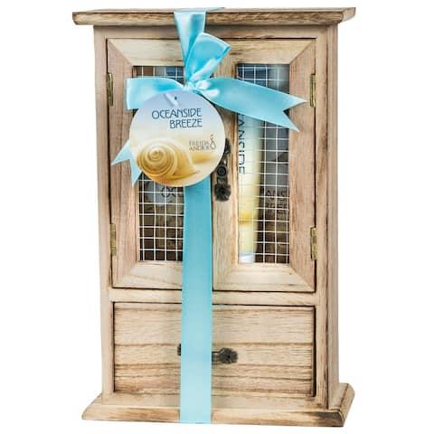 Ocean Side Breeze Wood Curio Bath Gift Set